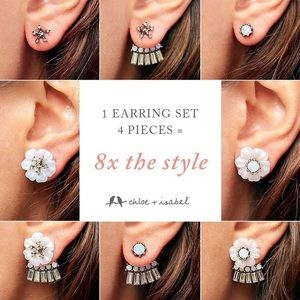 Bella Fiore Convertible Jacket Earrings